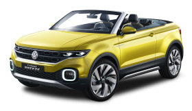Volkswagen T Cross Breeze Yellow Car