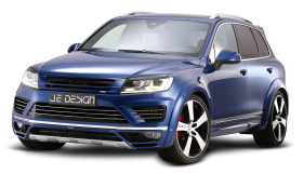 Volkswagen Touareg Blue Car