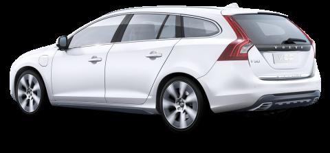 Volvo v60 Hybrid Silver Car
