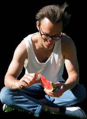 Watermelon Sitting