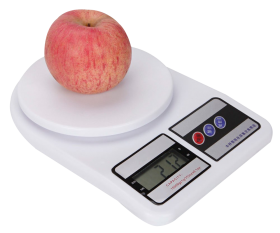 Weighing Scale with Apple