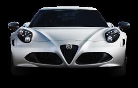 White Alfa Romeo 4C Car