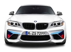White BMW M2 Coupe Front View Car