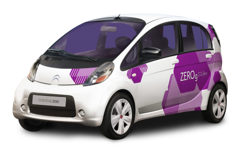White Citroen C Zero Small Car