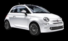 White FIAT 500 Car