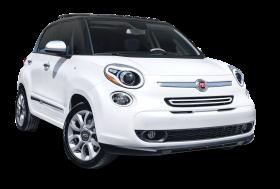 White Fiat 500L Car