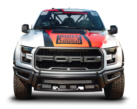 White Ford F 150 Raptor Car Front