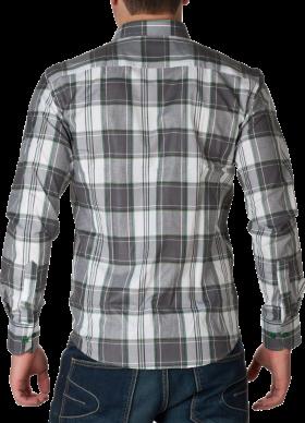 White & GreyCheck Full Dress Shirt