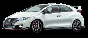 White Honda Civic Car