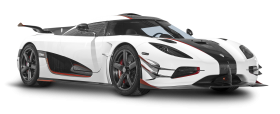 White Koenigsegg One 1 Car