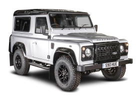 White Land Rover Defender Car