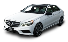 White Mercedes Benz E Class Car