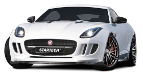 White Startech Jaguar F Type Coupe Sports Car