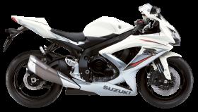 White Suzuki GSX R750A