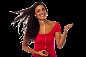 Women Listening Music