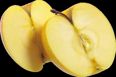 Yellow Apple Cut in half