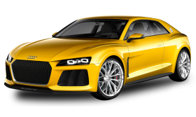 Yellow Audi Car