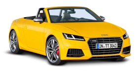 Yellow Audi TTS Roadster Car