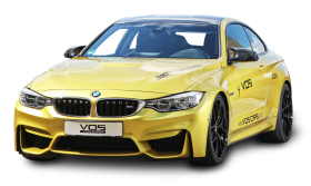Yellow BMW M4 Car