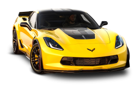 Yellow Chevrolet Corvette Z06 C7 Car
