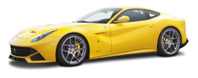 Yellow Ferrari F12berlinetta Car