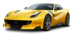Yellow Ferrari F12tdf Car