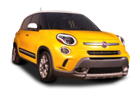 Yellow Fiat 500l Car