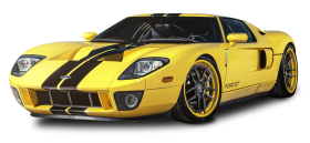 Yellow Ford GT Car