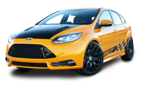 Yellow Ford Shelby Focus ST Car