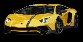 Yellow Lamborghini Aventador Car