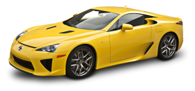 Yellow Lexus LFA Car