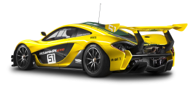 Yellow McLaren P1 GTR Car