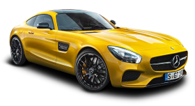 Yellow Mercedes Benz AMG GT Car