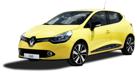Yellow Renault Clio Car