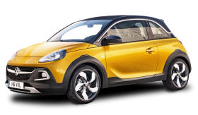 Yellow Vauxhall Adam Rocks Car