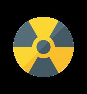 Radiation Warning Moder Styled