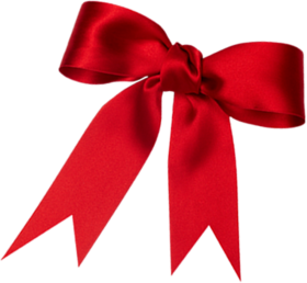 Red loop ribbon