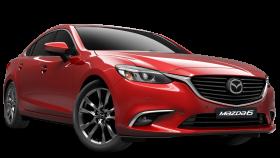 Red Mazda Car