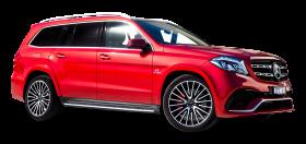 Red Mercedes Benz GLS Class Car