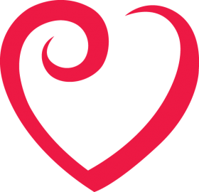 Red Outline Heart