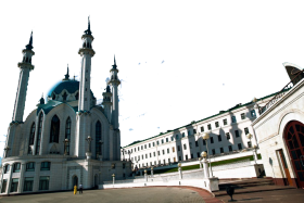 White Landmark Building in Russia
