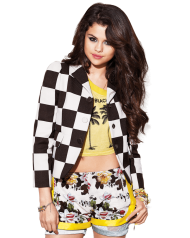 Selena Gomez Black White
