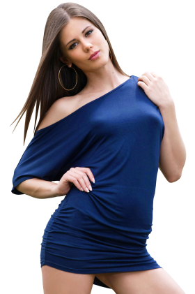 Sexy Little Caprice in Blue Dress