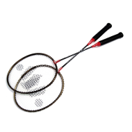 Two Badminton racquets