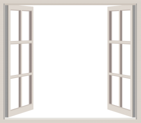 white Opened window