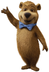 yogi bear waving